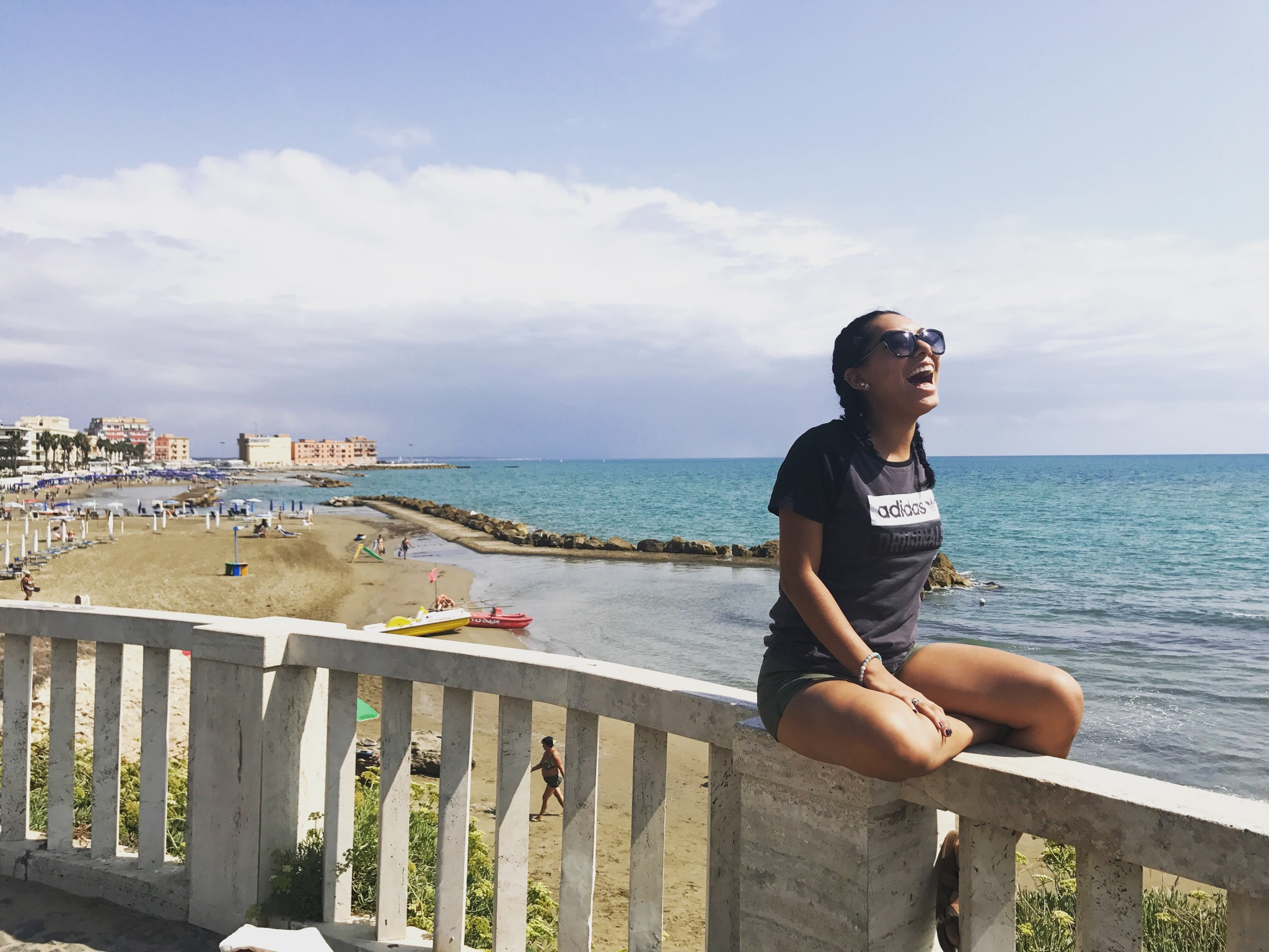 Jessica at Anzio Beach, Italy