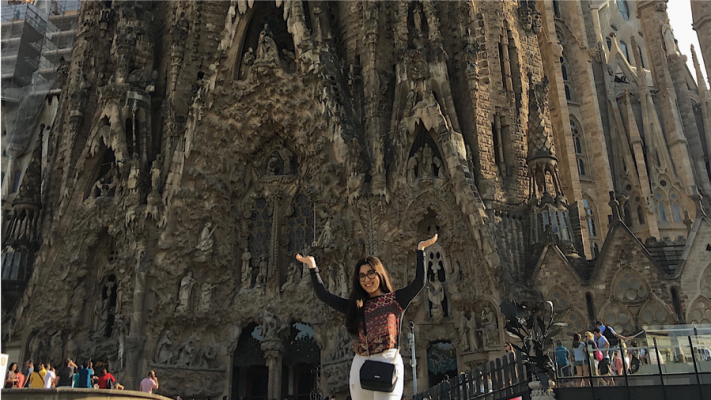 Connie at La Sagrada Familia