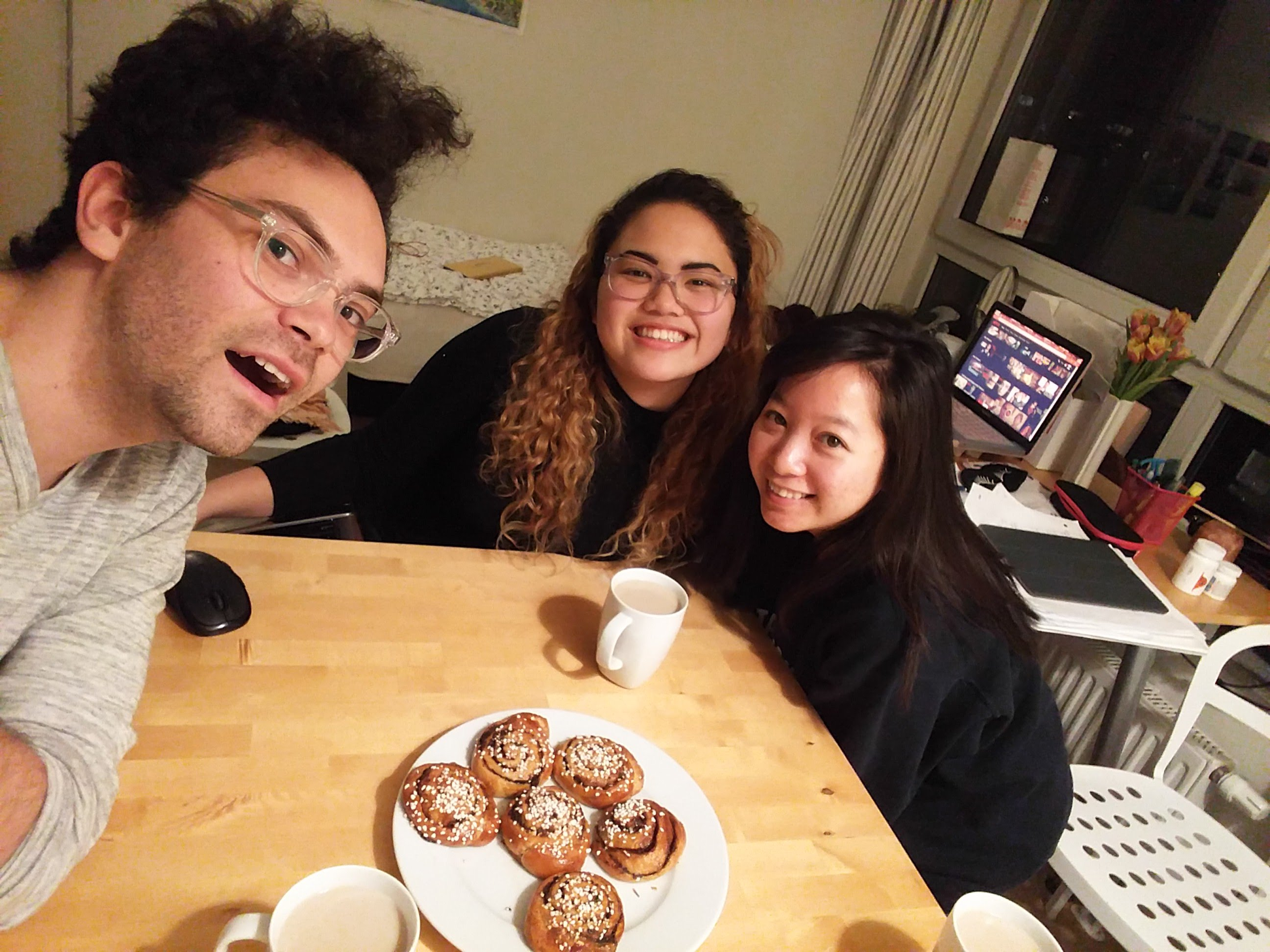 Jana and friends enjoying fika