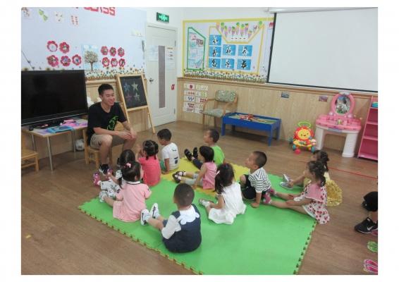 Preston giving a preschool lesson