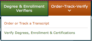Order or Track a Transcript screenshot
