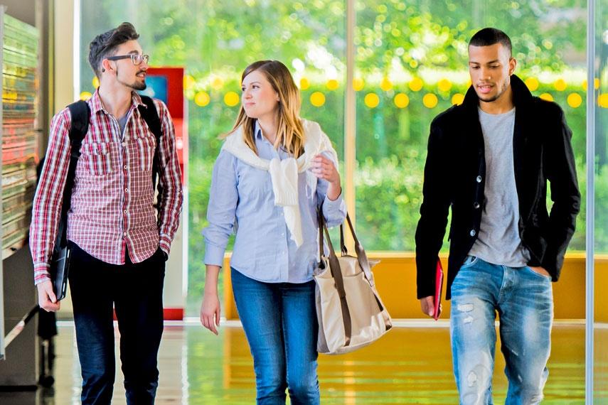 Students walking the halls