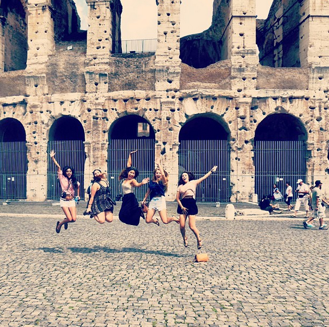 Fall 2014 photo contest entry: Jumping at the Roman Colosseum