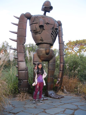 Statue of a Robot from a Movie (Castle in the Sky)