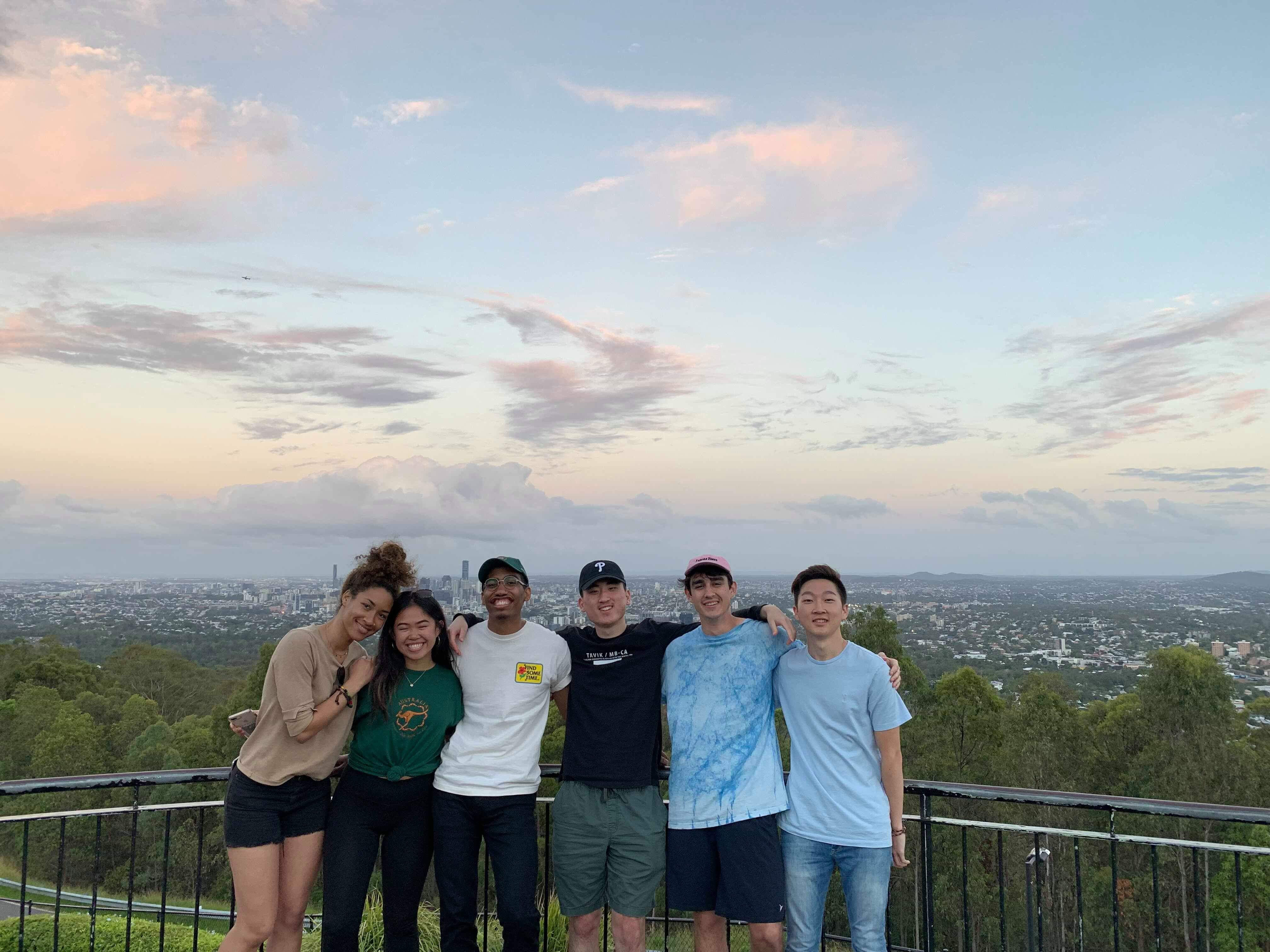 Andrew with Friends at Mt. Coot-Tha in Brisbane