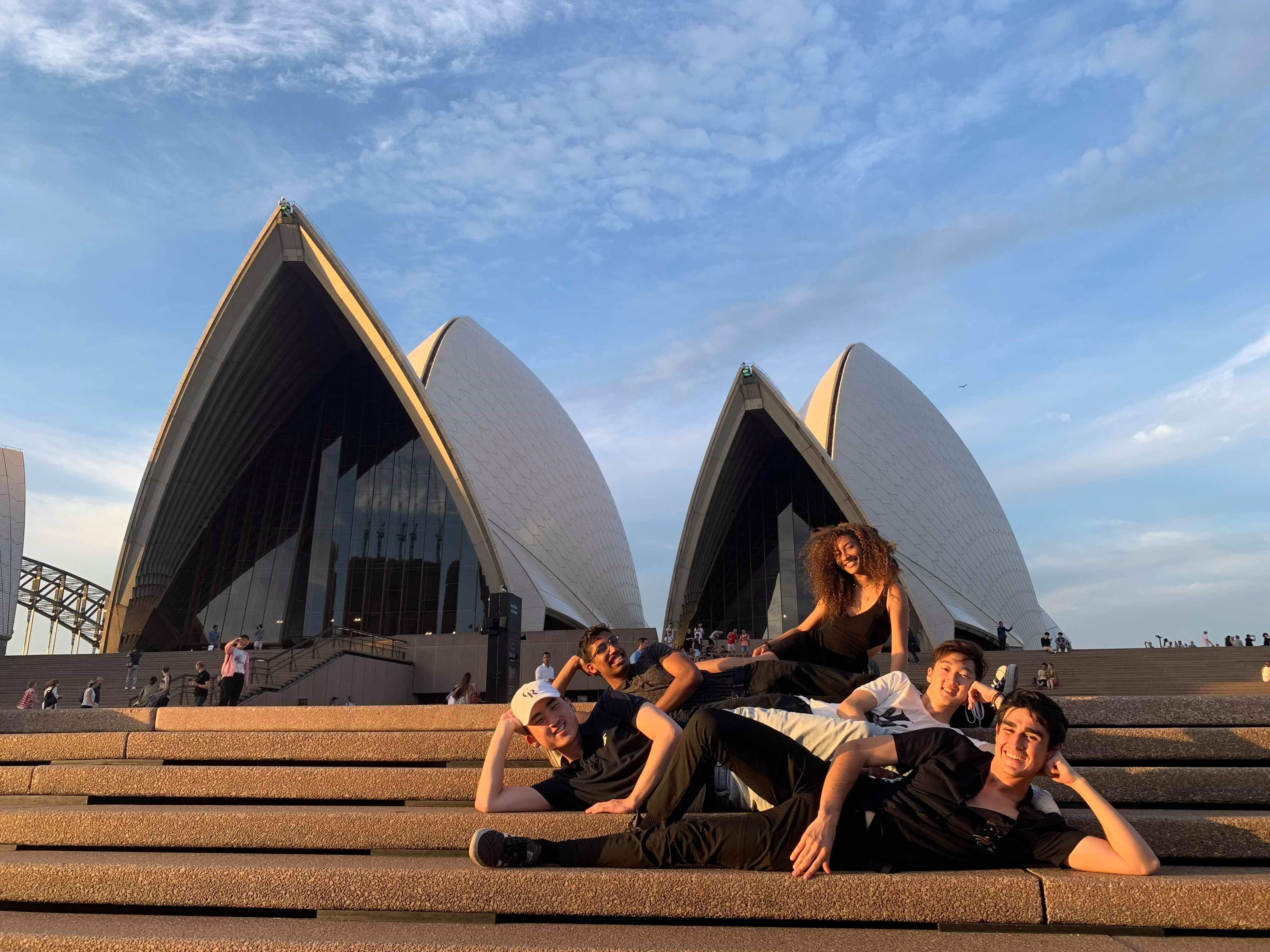 Andrew with Friends at the Sydney Opera House