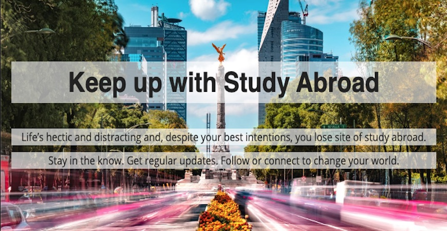 Keep up with Study Abroad