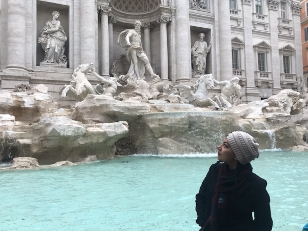 Jessica at the Trevi Fountain