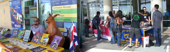 Study Abroad Fair collage