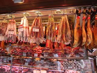 Meat market in Barcelona