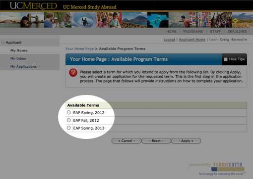 Select Application Term