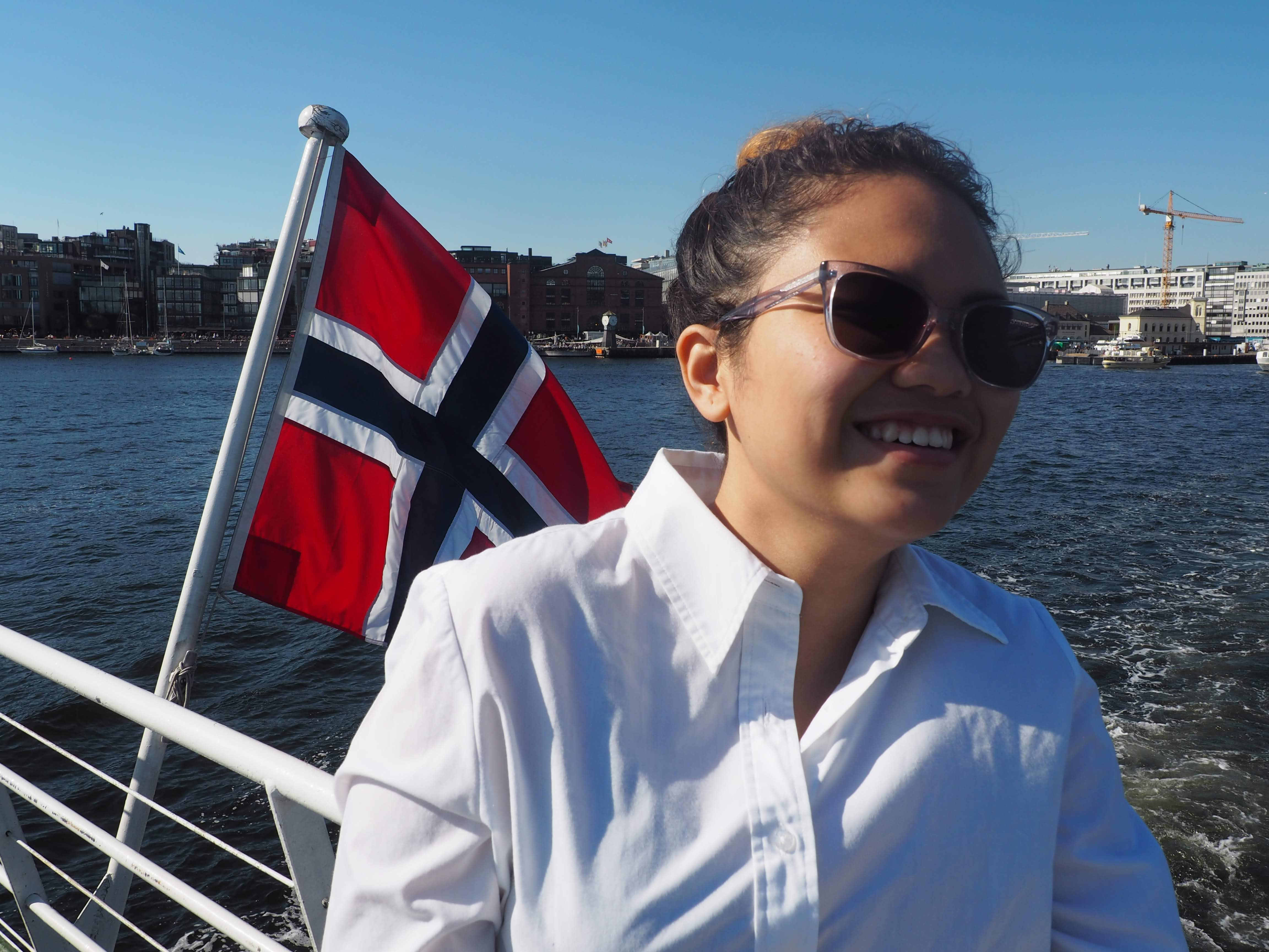 Jana on Seaway to Norway
