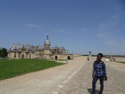 Sydney at Chateau de Chantilly in Paris