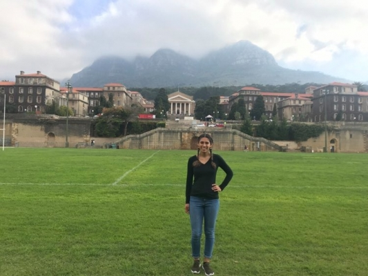 Nayeli at the University of Cape Town