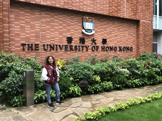 Caroline at the University of Hong Kong